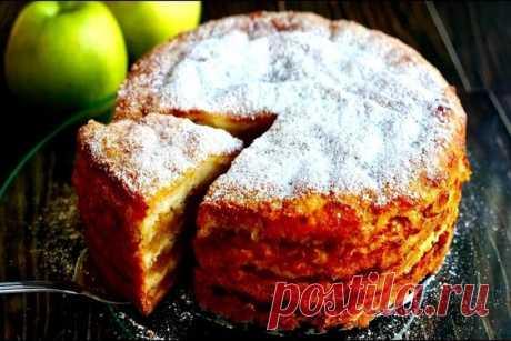 """Знаменитый яблочный пирог """"3 стакана"""" можно готовить хоть каждый день"""