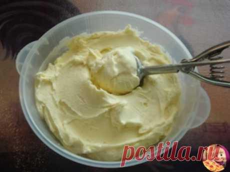 Home-made ice cream, taste of the Soviet ice cream.