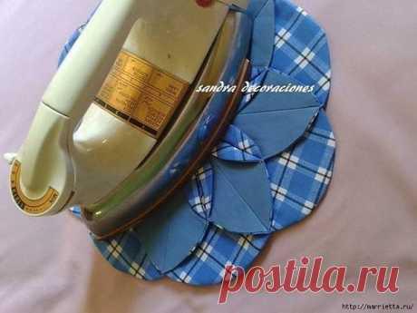 Подушка с цветком в технике лоскутного шитья (Шитье и крой) | Журнал Вдохновение Рукодельницы