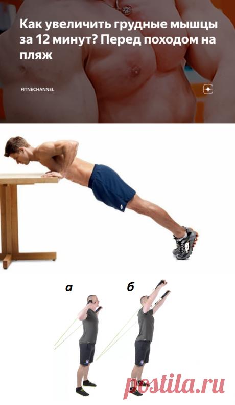 Как увеличить грудные мышцы за 12 минут? Перед походом на пляж | fitnechannel | Яндекс Дзен