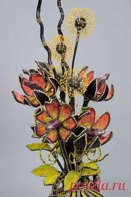 Декорированные бисером композиции от Nancy Josephson