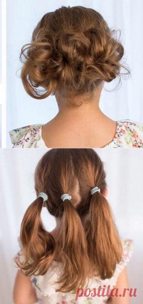 Simple hairdress from tails in a couple of minutes