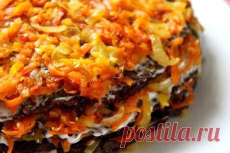 Закуски высшего уровня;)) Несладкие торты   Вкусные рецепты