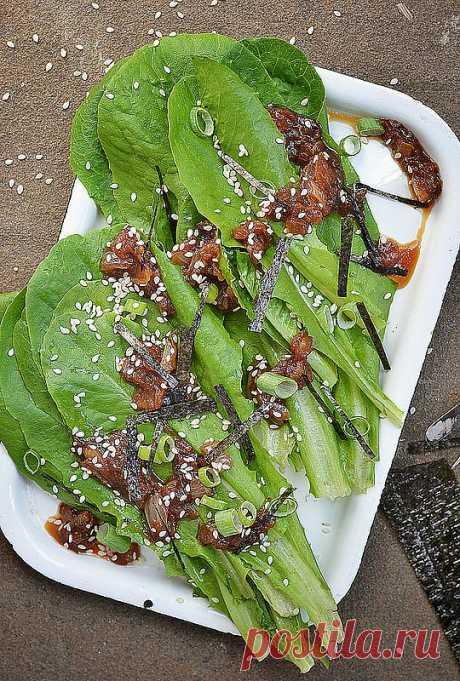 ¡La ensalada verde en el espíritu japonés!