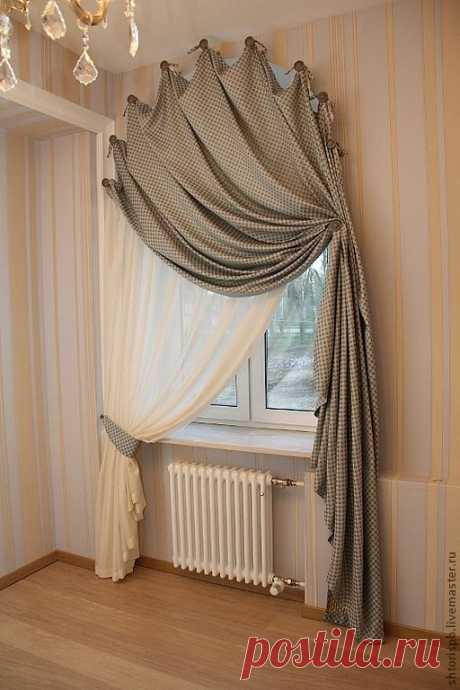 Идеи, как оригинально оформить окно текстилем