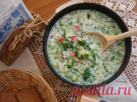 Кефирный суп с крабом и огурцом - Простые рецепты Овкусе.ру