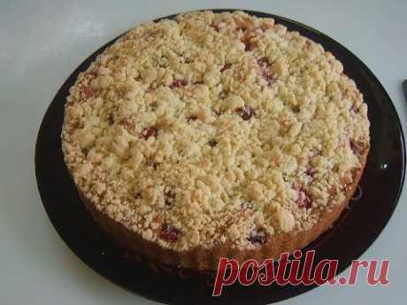 Вишнёвый пирог с крошкой. Маринкины творинки