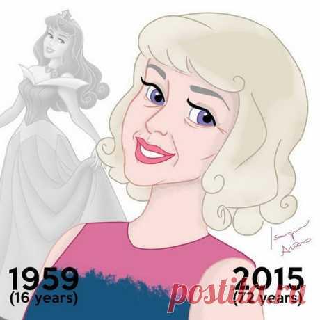 Постаревшие принцессы Disney
