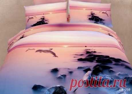 New Arrival Sunset Dolphin and Reef Print 3D Bedding Sets - beddinginn.com