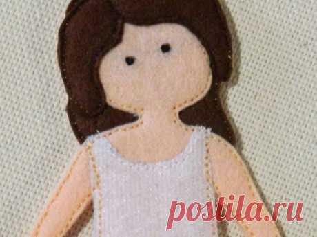 Мастер-класс смотреть онлайн: Шьем из фетра куколку Клэр в платье | Журнал Ярмарки Мастеров