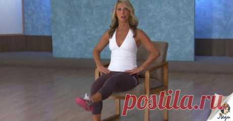 Подтягиваем живот, не вставая со стула Эти упражнения помогут вам сделать сильнее...