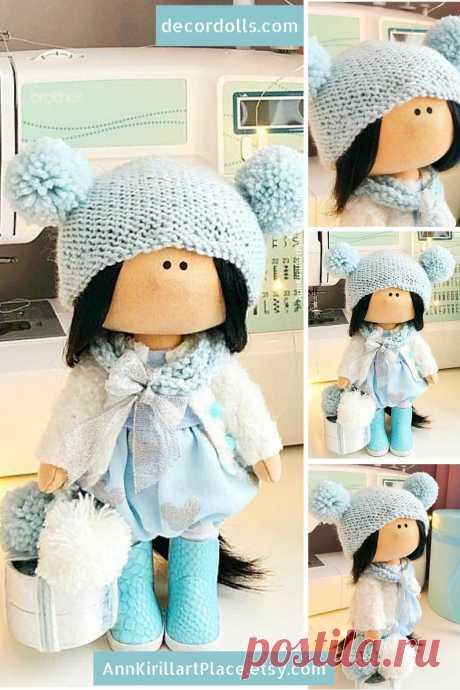 Winter Doll Handmade Tilda Cloth Doll Interior Decor Doll | Etsy