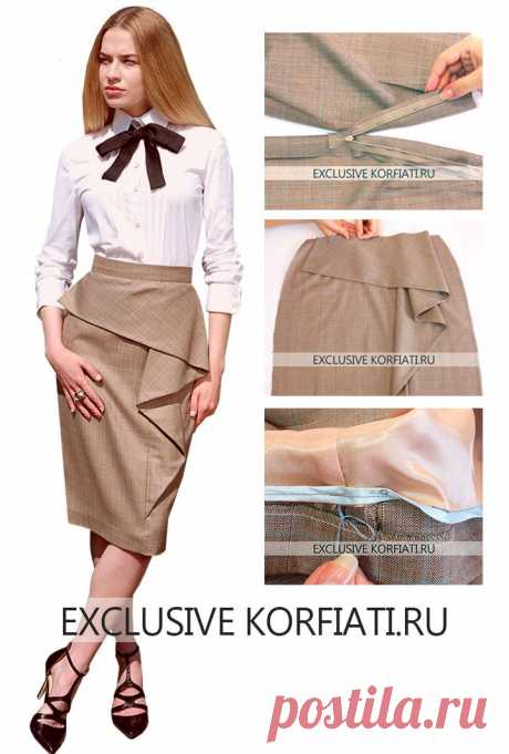 Skirt with a flounce - a master class in tailoring from Anastasia Korfiati