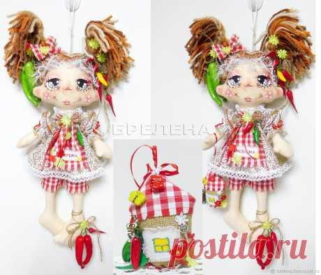 Авторская кукла Домовушка Перчик.Текстильная интерьерная кукла – купить на Ярмарке Мастеров – N3544RU | Игрушки, Месягутово