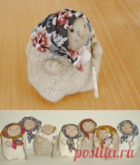 Шьем симпатичную бабулю из ткани – Ярмарка Мастеров