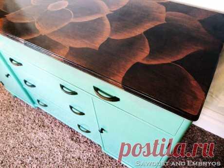 Интересное самодельное покрытие для Вашей мебели.