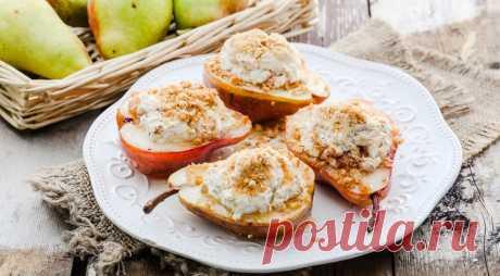 Груша, запеченная с сыром: вкусный десерт