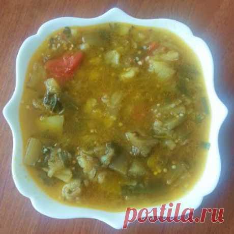 Суп из баклажанов и болгарского перца