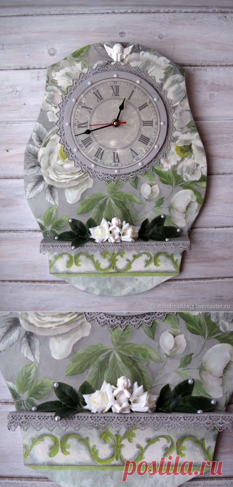 Часы классические Ангел хранитель – купить на Ярмарке Мастеров – NKLY0RU   Часы классические, Москва