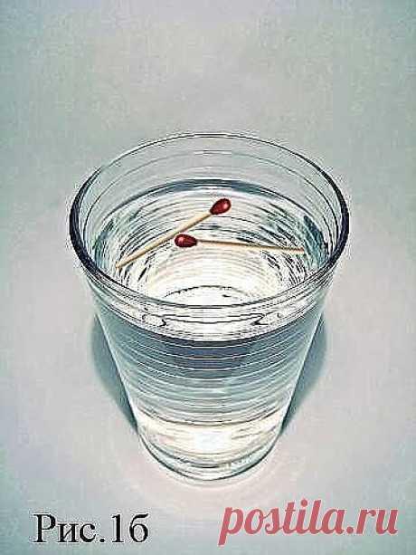 Диагностика порчи в домашних условиях! Для ее осуществления, необходимо иметь стакан (банку) с водой и две обычные спички. - СТВОРЕНО НАУКОЮ