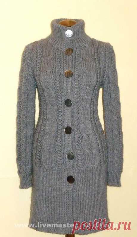 Верхняя одежда ручной работы. Ярмарка Мастеров - ручная работа Кардиган, пальто вязаное ручной работы. Handmade.