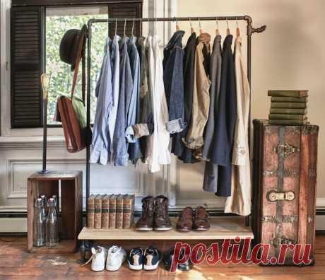 8 способов обустроить спальню без шкафов и гардеробной
