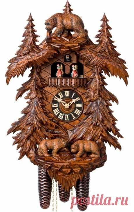 Старинные часы с кукушкой — сбор пазла — Пазлы онлайн