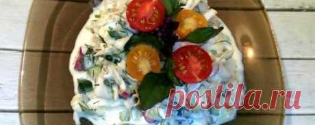 Диетический салат из капусты белокочанной - Диетический рецепт ПП с фото и видео - Калорийность БЖУ