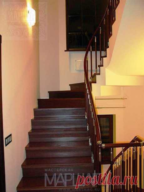Лестницы, ограждения, перила из стекла, дерева, металла Маршаг – Ограждения с комбинированными балясинами