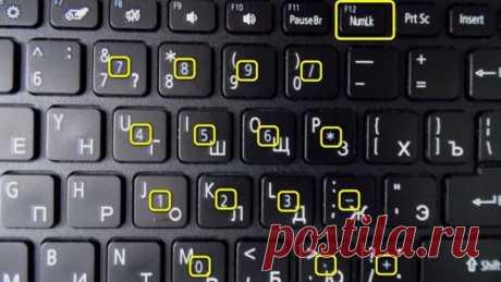 Вместо букв печатаются цифры на ноутбуке как можно их отключить?