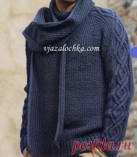 Свитер с рукавами реглан и шарф | Вязальный роман | Яндекс Дзен