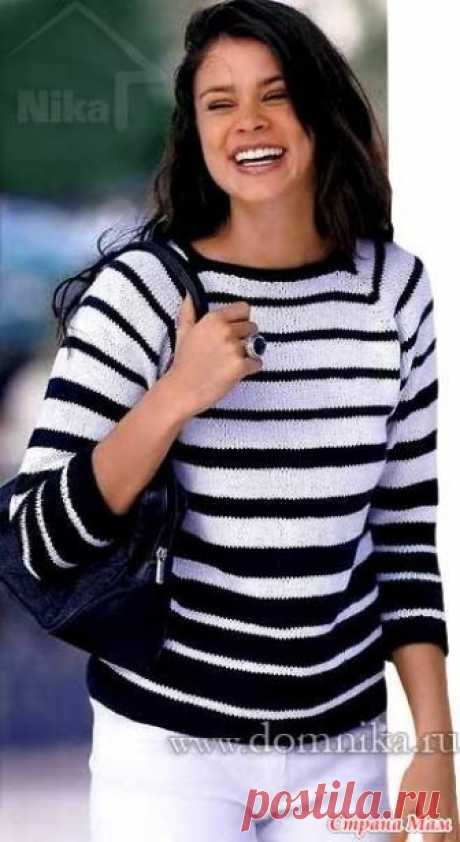 . Женский пуловер реглан спицами Женский вязанный спицами пуловер отлично подойдет для полных. Модель 2014 года покроя реглан связана сверху вниз, доступна для начинающих вязальщиц.