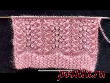 Beautiful 4 Rows knitting stitch pattern for cardigans