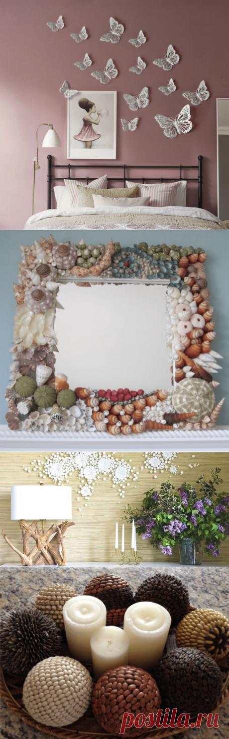 Предметы декора своими руками из подручных материалов - идеи с фото