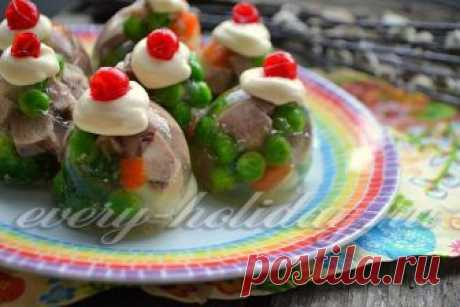 Aspic with language in an egg shell - the recipe with a photo