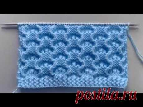 Ажурный узор спицами для вязания джемпера, свитера, кардигана