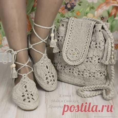 Идеи для любителей вязания - красивая вязаная обувь от мастера Мадам Сапожок Ксения - Сам себе мастер - медиаплатформа МирТесен