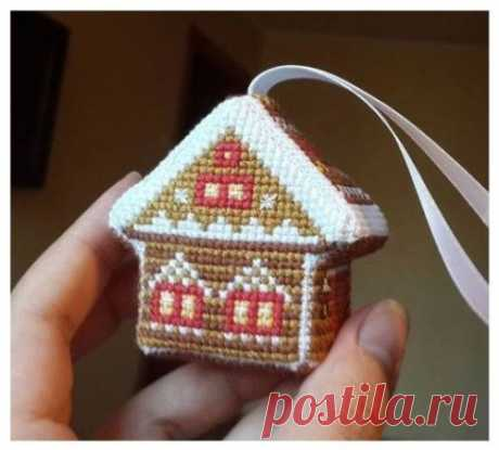 Winter and New Year's schemes for an embroidery a cross — Needlework