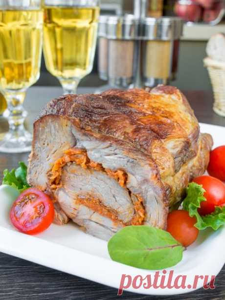 Рецепт рулета из свинины с морковью на Вкусном Блоге