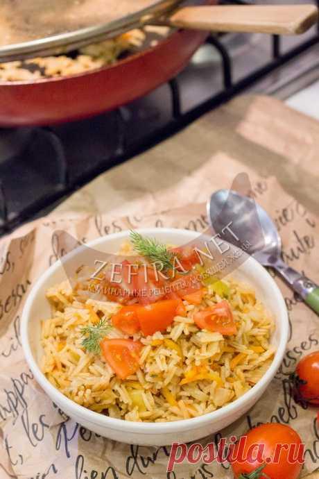 Вкусный рис с капустой на сковороде — Кулинарные рецепты любящей жены