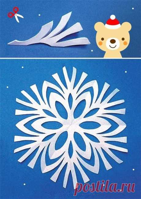 Вырезаем очень красивые снежинки! Симпатичные идейки!