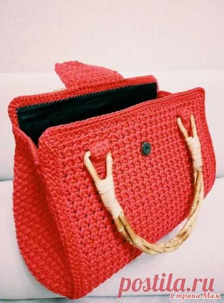 . Женская сумка крючком - Вязание - Страна Мам
