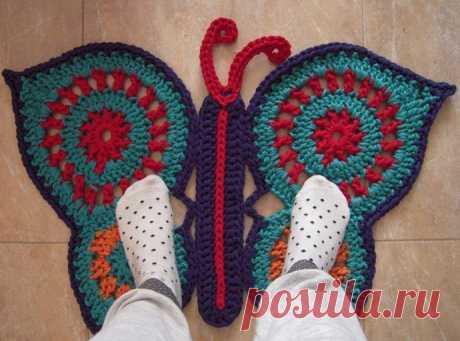 Бабочки не в животе, а под ногами! из категории Интересные идеи – Вязаные идеи, идеи для вязания