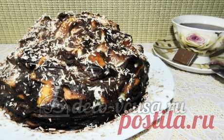 Торт Графские развалины из бисквита пошаговый рецепт