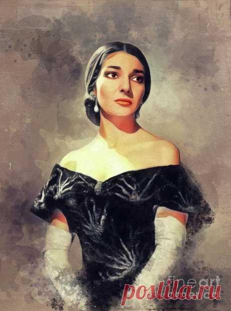 Maria Callas, Music Legend by Esoterica Art Agency Maria Callas, Music Legend Painting by Esoterica Art Agency