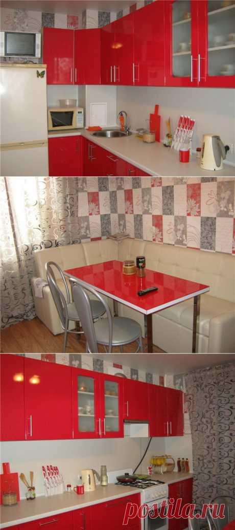 (+1) тема - Кухня в красно-серых тонах   Школа Ремонта
