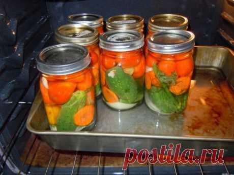 La conservación y los acopios de casa en el horno