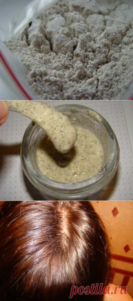 Tested powder for washing of hair
