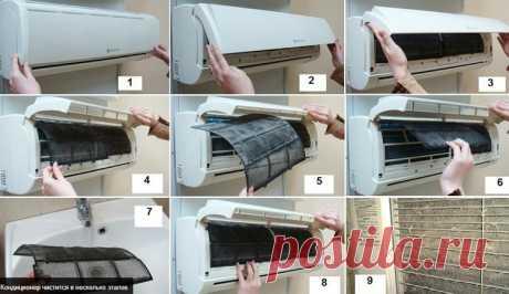 Самостоятельная чистка кондиционера в домашних условиях