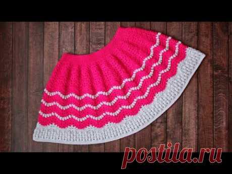 Детская юбочка крючком | Юбка для девочки крючком | Crochet Scirt